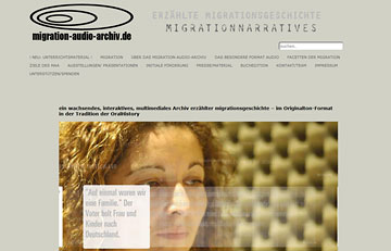 Screenshot des Projektes Migration-Audio-Archiv