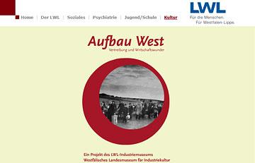 Screenshot des Projektes Aufbau West