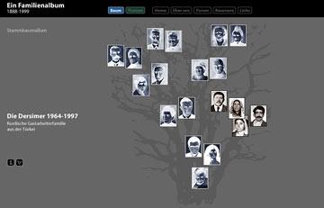 Screenshot des Projektes Ein Familienalbum 1888-1999