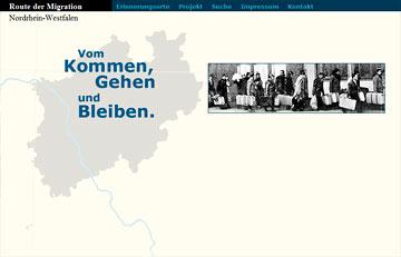 Screenshot des Projektes Angekommen Route Migration