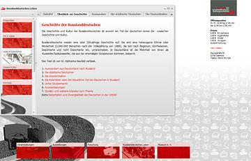 Screenshot der Webseite des Museum für russlanddeutsche Kulturgeschichte